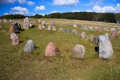 The Viking graves are shaped differently depending on whether it contains a man or a woman.   The graves containing men are shaped pointy like viking ships or as a triangle, while women's graves are round or oval. Depending on the burial customs of the time of   each burial, the Iron Age grave was covered with a mound, and the Viking Age grave was a cremation grave with a stone surrounded perimeter, inside which the deceased was cremated.