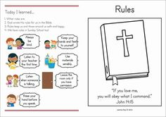 Page 1 of 2 Sunday School Rules, Sunday School Classroom, Sunday School Activities, Classroom Rules, Preschool Classroom, Class Rules, School Tool, Christian Parenting, Kids Church