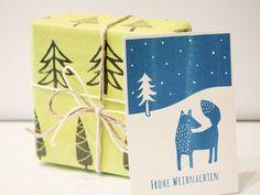 DIY-Anleitung: Tolle Weihnachtskarte mit Siebdruckschablone gestalten via DaWanda.com