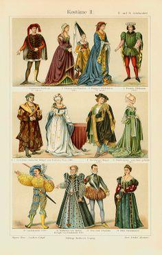 Kostüme Altertum Mittelalter Chromos Originale 100 J Xz - Billerantik