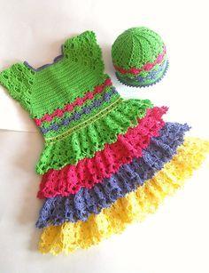 236e919ef8d Crochet PATTERN  Primavera Princess  Baby-girl-dress-Handmade-Dress-Pattern-newborn-frock-infant-clothes-first-ruffles-layers-heirloom