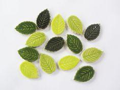14 mosaico foglie a mano foglia ceramica piastrelle mosaico forme