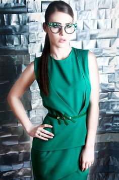 Green dress / Belgrade Fashion Week- Tijana Zunic ss 2013.