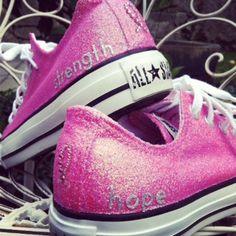 Breast Cancer Awareness Converse Sneakers by TenAngelDesigns, $105.00