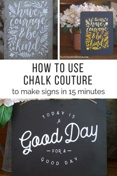 Hand Lettering Projects How to Use Chalk Couture to Make Easy Signs in 15 Minutes Chalk Art Chalk Chalk art signs Couture Easy Hand Lettering Minutes projects Signs Chalkboard Hand Lettering, Chalkboard Doodles, Chalkboard Art Quotes, Chalkboard Designs, Chalkboard Ideas, Kitchen Chalkboard, Chalkboard Drawings, Chalkboard Paint, Wood Sign Quotes