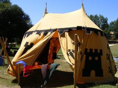 Medieval Tent by ~rafaelcordeiro-stock on deviantART Backyard Camping, Backyard Play, Camping Life, Tent Camping, Camping Gear, Glamping, Medieval Fair, Medieval Life, Renaissance