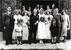 my mum and dad wedding back in 1939