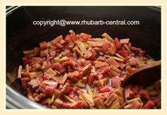 Crockpot Rhubarb Sauce ... yeah, this turned out nothing like the picture... probably won't try this recipe again :(