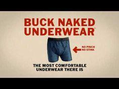 Duluth Trading Ad: Buck Naked Underwear  No Pinch, No Stink, No Sweat