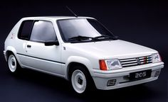 Peugeot Rallye. 20+ year-old euro hot hatch. Love this old school style. White on white steelies