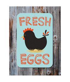 Fresh Eggs Aluminum Outdoor Sign by BainbridgeFarmGoods on Etsy, $34.95