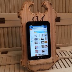 PERSONALIZED wood IPad Stand, NEW Kindle Stand, Tablet Stand, Nook Holder, Kitchen Gift on Etsy, $19.99