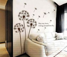 Dandelion nursery kids room removable quote vinyl wall decals stickers AY695 Bonamart http://smile.amazon.com/dp/B0089QXFDQ/ref=cm_sw_r_pi_dp_xDmRtb1B734YYHPG