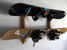 2 Snowboard / Wakeboard Storage Wall Rack by WillowHeights on Etsy