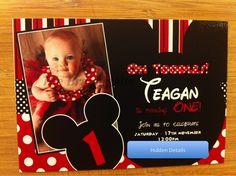 Mickey Mouse Themed Birthday Invitation