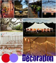 Inspiration Boards: Claire and Tom's Red and Purple Carnival Style Wedding (Part 1)
