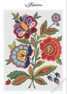 Flowers  Cross Stitch Pattern PDF  Instant by DianaShopUkraine