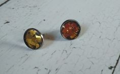 Sr⊙⊙czka: Kolczyki wkrętki 13 / nr. 80 Cufflinks, Stud Earrings, Accessories, Jewelry, Jewlery, Jewerly, Stud Earring, Schmuck, Jewels