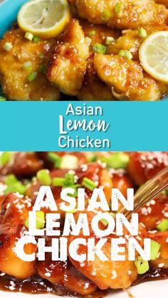 Chinese Lemon Chicken, Cashew Chicken, Orange Chicken, Easy Chinese Recipes, Chinese Desserts, Chinese Food Recipes Chicken, Asian Food Recipes, Homemade Chinese Food, Asian Dinner Recipes