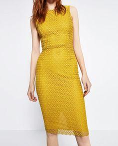 GUIPURE LACE SHIFT DRESS-DRESSES-WOMAN | ZARA United States