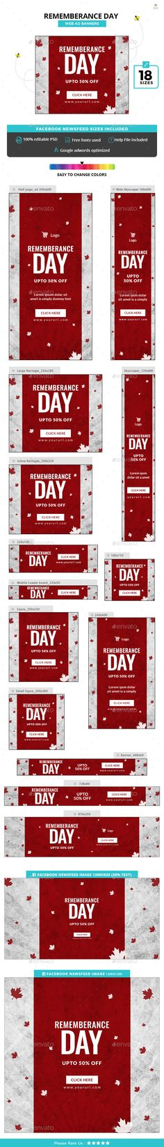 Rememberance Day Banners