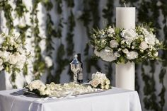white floral wedding design