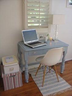 Love the desk color