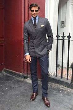 Wedding suits men blue grey mens fashion 17 Best i Golf Fashion, Suit Fashion, Mens Fashion, Fashion Outfits, Fashion Shirts, Jacket Style, Suit Jacket, Style Masculin, Men Style Tips