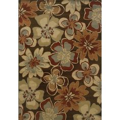 @Overstock.com - Indoor Brown and Gold Area Rug - Add a lovely touch to your home with this brown floral area rug. This design includes a beautiful display of blue, beige, rust, and tan flowers against a dark background. It is the perfect way to update your living room or bedroom space.  http://www.overstock.com/Home-Garden/Indoor-Brown-and-Gold-Area-Rug/7576699/product.html?CID=214117 $18.91