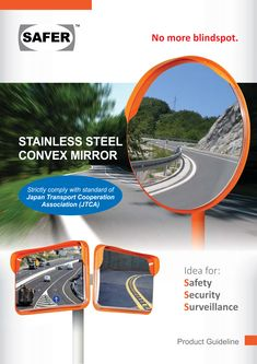 Convex Mirror, Security Surveillance, Safety And Security, Transportation, Stainless Steel
