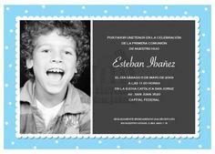 INVITACIONES PRIMERA COMUNIÓN 2012 Pandora, Kids Fashion, Invitations, Cards, First Holy Communion, Store, Blue Prints