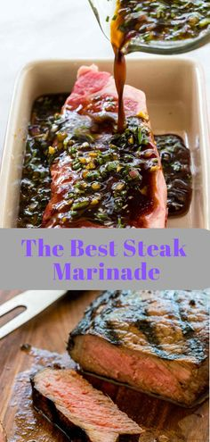 Best Food Recipes: The Best Steak Marinade The Best Steak Marinade - Cuisine Village Menu Roast Beef Marinade, Steak Marinade Recipes, Beef Recipes, Cooking Recipes, Grill Recipes, Yummy Recipes, Vinaigrette, Sauces, Best Steak