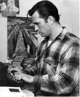 """oz.Typewriter: World Champion Typists and Typewriting World Records Fastest typing author: Jack Kerouac, US, Underwood Universal, wrote On the Road in three weeks, 454 West Twentieth Street, Manhattan, April 1951, at 102 words a minute, on one roll of teletype paper. Truman Capote said of On the Road, """"That's not writing, it's typing."""""""