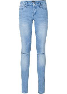 Jeans push-up skinny con tagli alle ginocchia ed effetti di lavaggio 4a94b248e16
