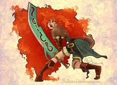 Warrior Merida by *Skirtzzz on deviantART