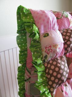 d15cac8b0f Pink John Deere puffy quilt crib bedding and by OnceUponaChildhood