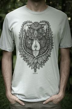 Lunar Elephant - Males Fair Wear and Organic T-Shirt