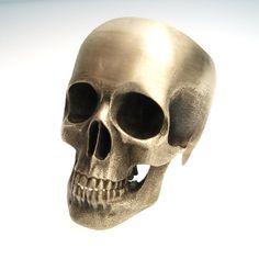 the full skull ring in bronze by noformdesign on Etsy, $125.00