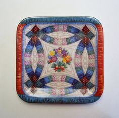 Quilt Plate Cherished Traditions by MyForgottenTreasures on Etsy, $25.00