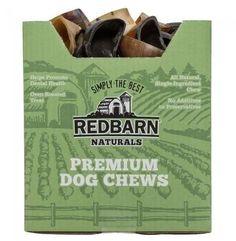 Redbarn Naturals Cow Hooves Premium Dog Chews 75 ct