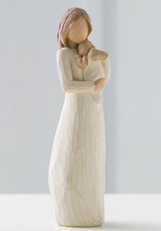 Resin and metal figurine that represents a special sentiment. Measures: H Angel Of Mine by Willow Tree by Demdaco . Home & Gifts - Gifts - Odds & Ends Ohio Willow Tree Familie, Willow Tree Engel, Willow Tree Statues, Willow Figurines, Willow Tree Figuren, Angel Sculpture, Mother And Child, Sculpting, New Baby Products