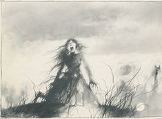 The Scary Stories to Tell in the Dark series of books used to SCARE me but I used to read them again and again. It's one of the first memories I have of art that really made me feel something distinct EVERY time I saw it.