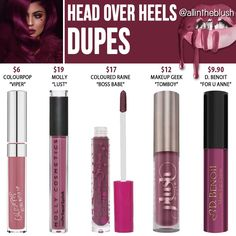 Kylie Cosmetics Head Over Heels Lipkit Dupes