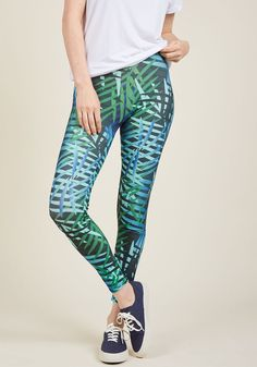 8de9beb60f9683 Fresh Take Leggings in Palms in M, L - Plus Sizes Available Deep Forest,