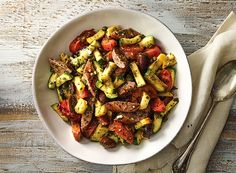Grilled Sausage and Summer Squash from Publix Aprons- A quick recipe only 20 minutes to make any grilling party complete #Publix #PublixAprons
