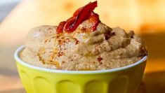 red pepper hummus - I make this all the time now, with my own roasted peppers.  so easy!
