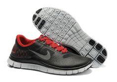 get cheap fae5f 2e282 Nike Free 4.0 V2 Black Red