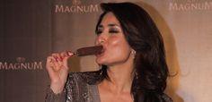 Lick it like kareena kapoor at magnum ice cream launch | Kapoor Cleavage