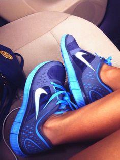 Shoes: nike nike free runs nike free run 5.0 light blue, dark blue tennis, Nike