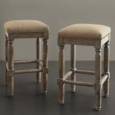 Renate Linen Counter Stools (Set of 2) - Overstock Shopping - Great Deals on Bar Stools